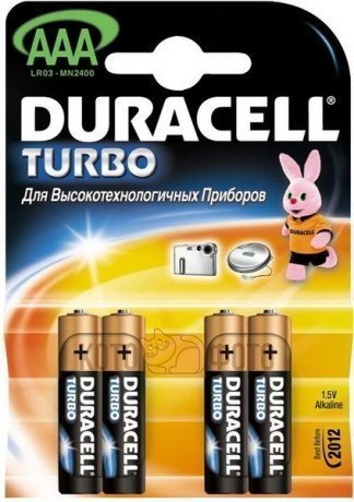 Duracell LR03-4BL TURBO (4шт) (AAA) duracell cef14 4 hour charger