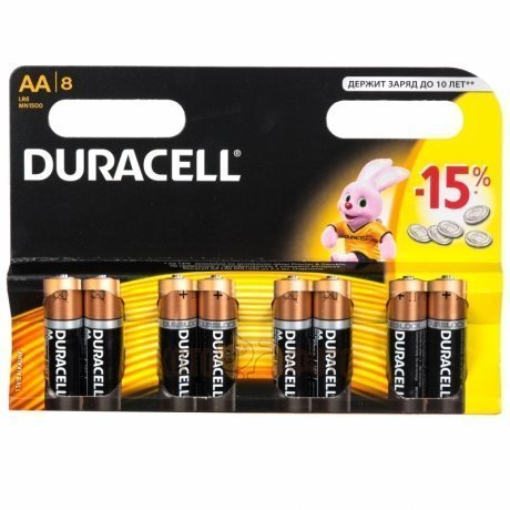 Duracell LR6-8BL (8шт) (AA)