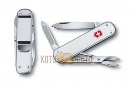 Нож Victorinox Money Clip 0.6540.16 74мм 5 функц. серебристый