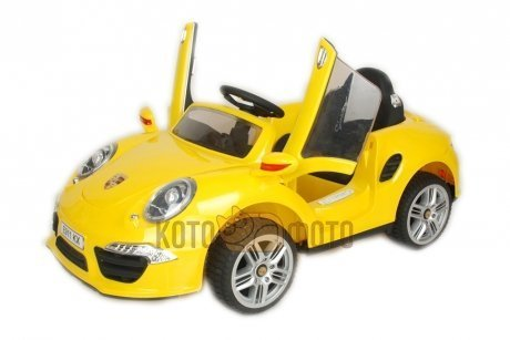 Электромобиль RiverToys Porshe E911KX (желтый)