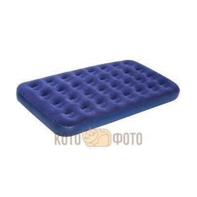 Кровать Relax JL020334N Flocked Air Bed Twin 191Х99Х22 Синий