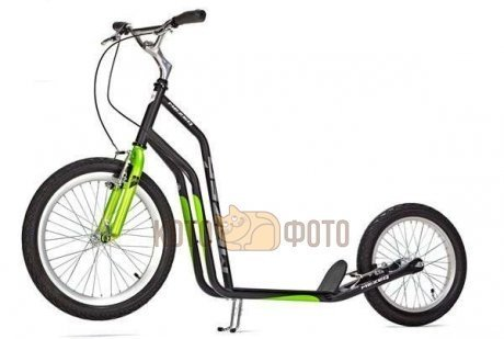 Самокат Yedoo Mezeq V-Brake (black green)