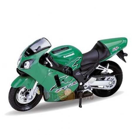 Модель мотоцикла Welly 1:18 motorcycle / Kawasaki 2001 NINJA ZX-12R