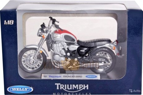 Модель мотоцикла Welly 1:18 Triumph Thunderbird