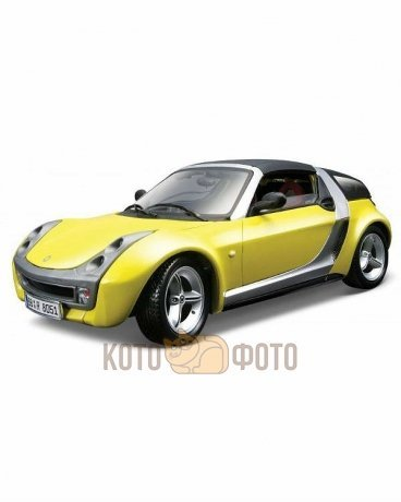 Машинка Bburago 1:18 Smart roadster coupe металл.