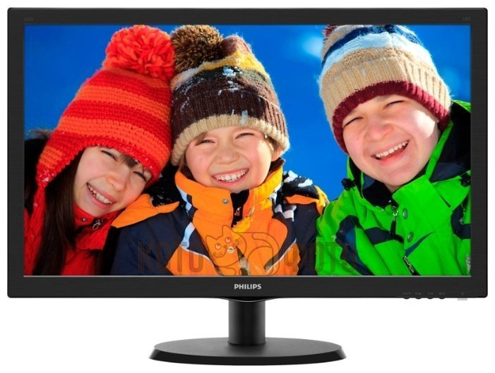 Монитор PHILIPS 21.5 223V5LSB (00/01) черный монитор жк philips 243v5qsba 01