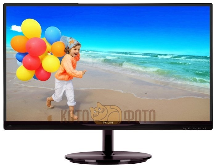 Монитор Philips 21.5 224E5QHSB 250cd 1920x1080 D-Sub FHD монитор 23 8 philips 241b7qpteb черный ips 1920x1080 250 cd m^2 5 ms hdmi displayport mini displayport vga аудио usb
