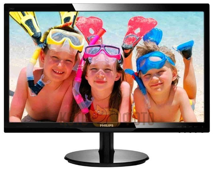 Монитор PHILIPS 246V5LSB (00/01) черный монитор жк philips 243v5qsba 01