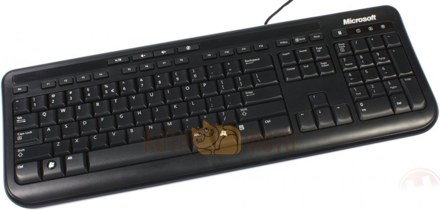 Клавиатура Microsoft Wired 600 черный клавиатура microsoft wired keyboard 600 black usb черный