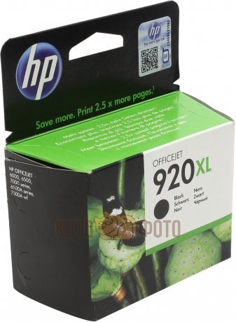 Картридж струйный HP 920XL CD975AE черный для HP OJ 6000/6500 (1200стр.)