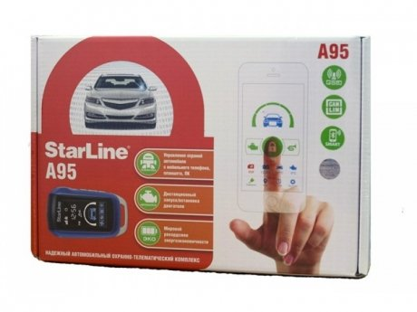 Фотография товара автосигнализация STARLINE A95 BT CAN-LIN GSM (2-way/автозапуск) (131562)