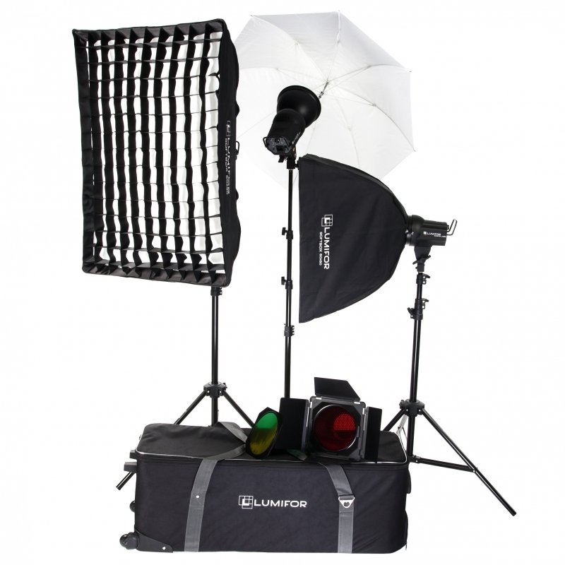 Комплект студийного света Lumifor Amato 200 Creative KIT LX-200-3SSUGB KIT lumifor amato 100 clas kit