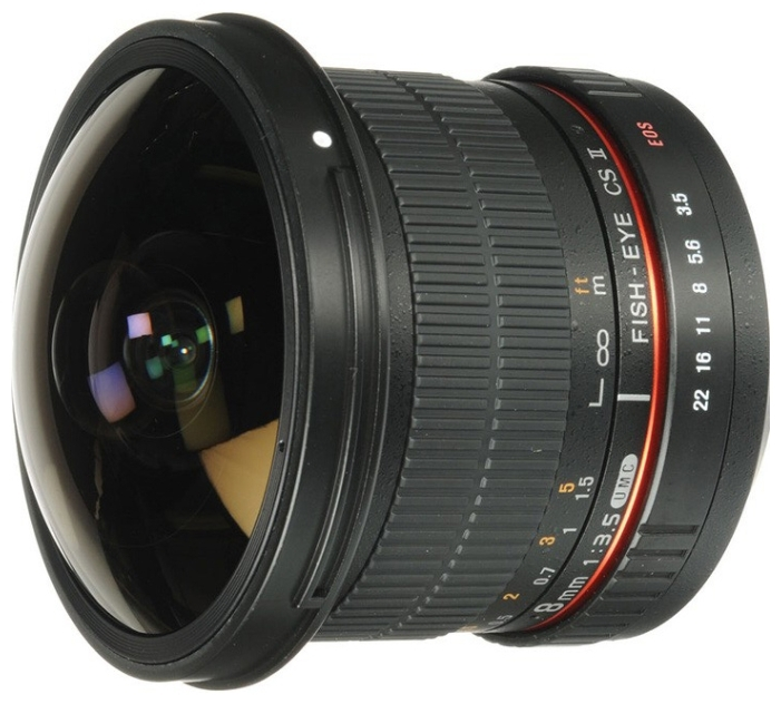 Объектив Samyang MF 8mm f 3.5 AS IF UMC Fish-eye CS II Canon EF объектив samyang af 85mm f 1 4 umc canon ef