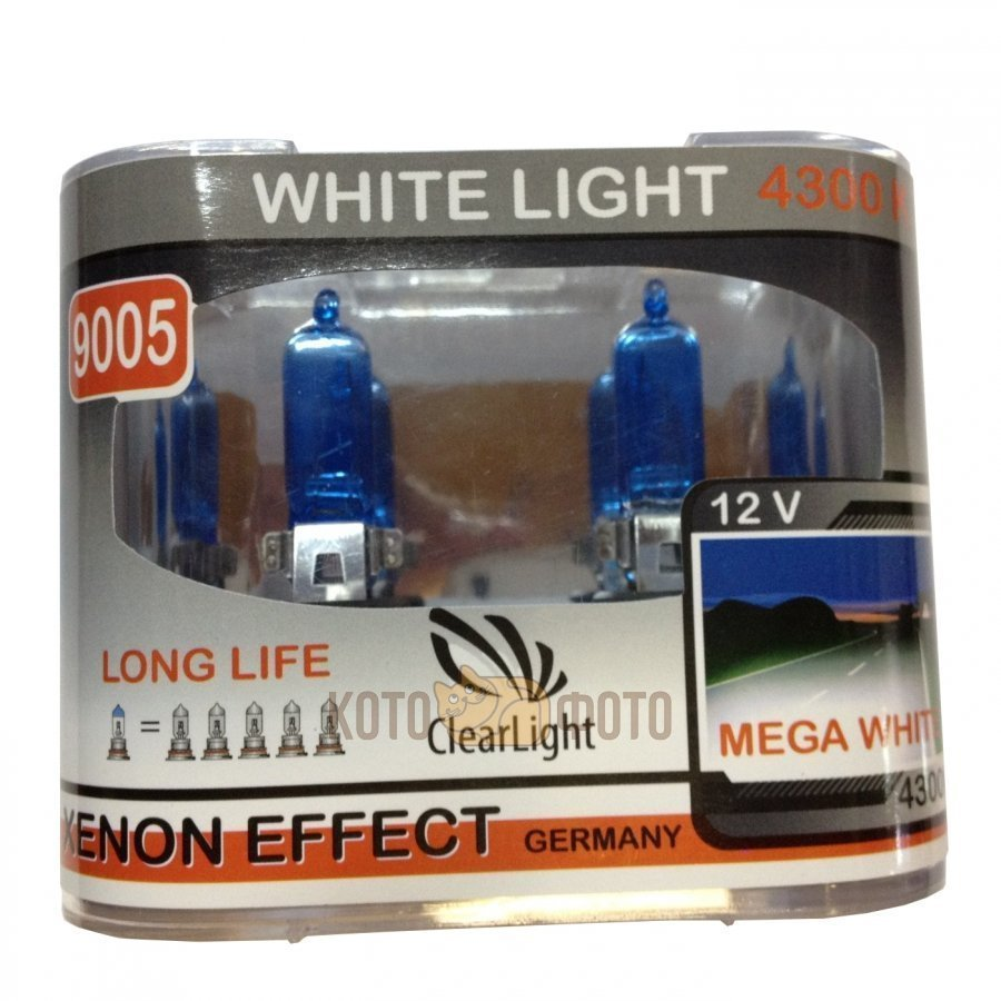 Комплект ламп Clearlight HB3 12V-65W WhiteLight (2 шт.) ML9005WL clearlight hb3 9005 4300k 2 шт