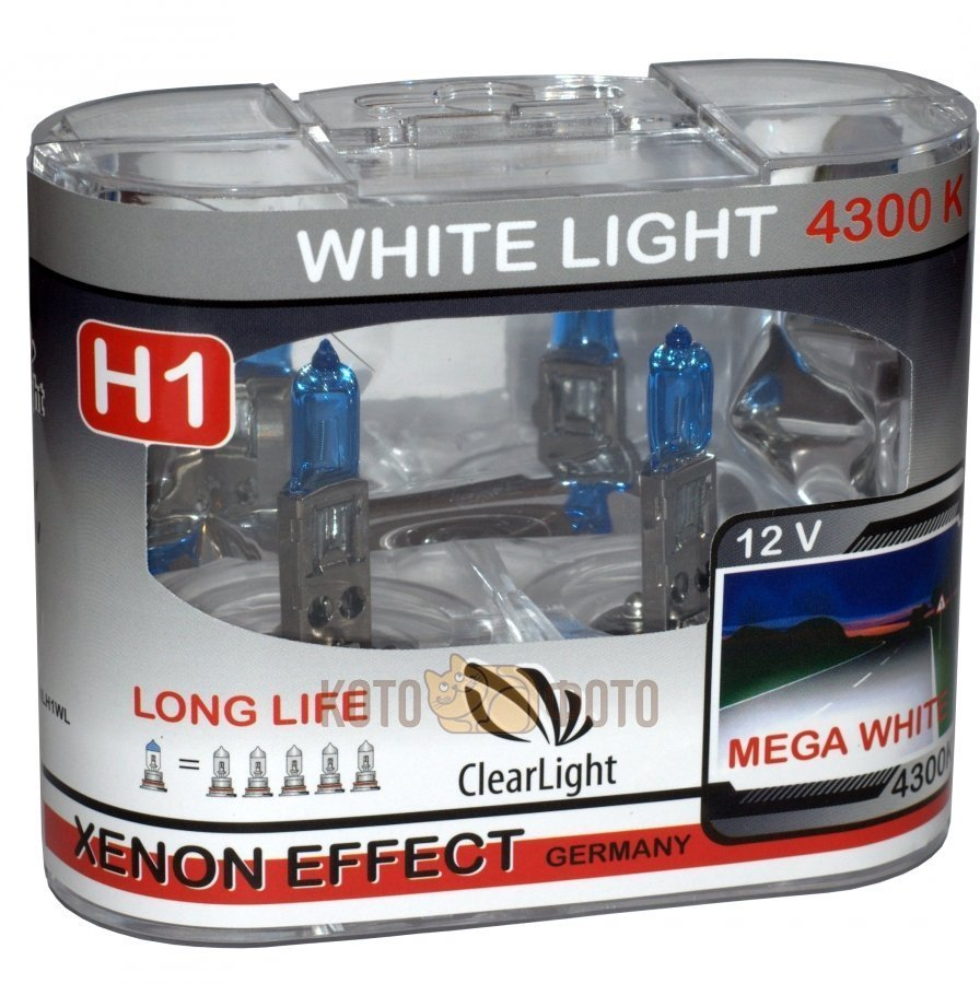 цена на Комплект ламп Clearlight H1 12V-55W WhiteLight (2 шт.) MLH1WL