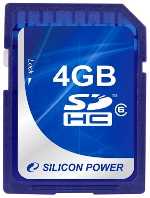 Silicon Power SDHC 4GB Class 6