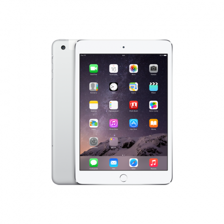 Планшет Apple iPad mini 3 Wi-Fi Cellular 64GB Silver (MGJ12RU)