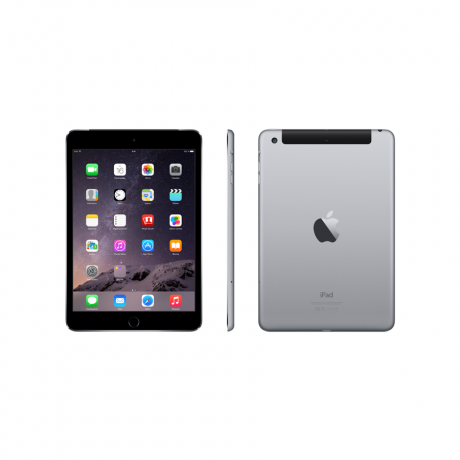 Планшет Apple iPad mini 3 Wi-Fi Cellular 64GB Space Gray (MGJ02RU)