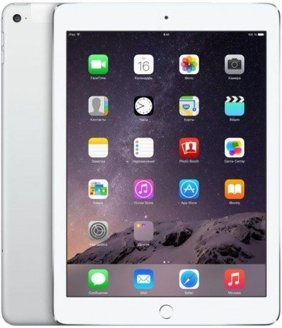 Планшет Apple iPad Air 2 Wi-Fi Cell 128Gb Silver (MGWM2RU/A)