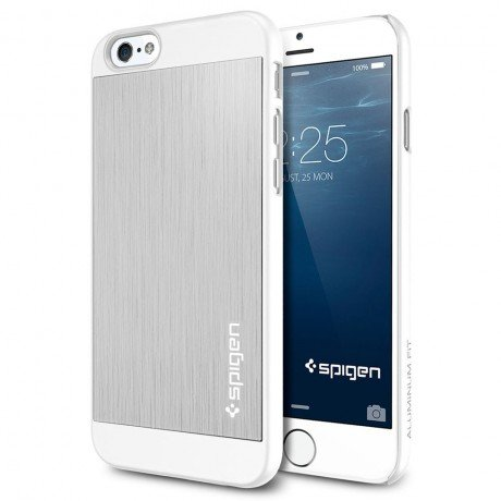 Чехол SGP Aluminum Fit для iPhone 6, Satin Silver. SGP10947