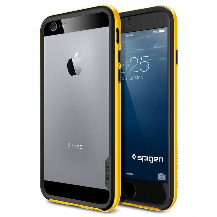 Бампер SGP Neo Hybrid EX Series для iPhone 6, Reventon Yellow. SGP11027 аксессуар чехол spigen sgp neo hybrid metal series для iphone 6 plus 5 5 inch champagne sgp11071