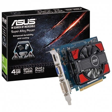 Видеокарта Asus PCI-E GT730-4GD3 nVidia GeForce GT 730 4096Mb 128bit DDR3 700/1100 Ret от Kotofoto