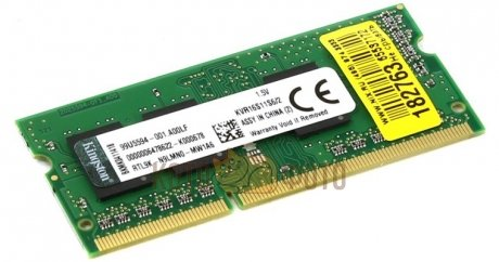 Память оперативная SO-DIMM DDR3 2Gb Kingston 1600MHz 204-pin 1.5В (KVR16S11S6/2)
