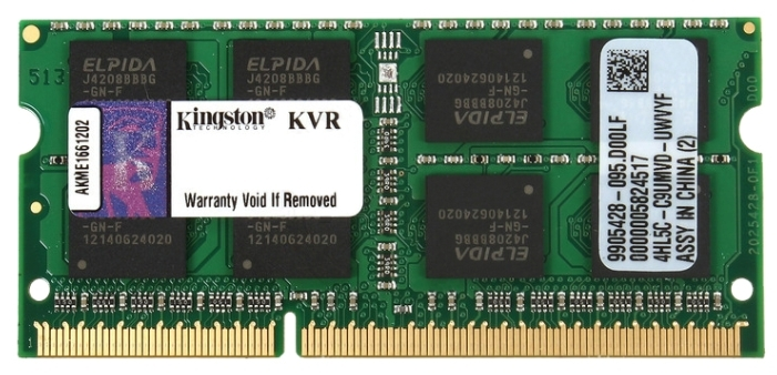 все цены на Память DDR3 SO-DIMM Kingston 8Gb 1600MHz (KVR16S11/8) онлайн