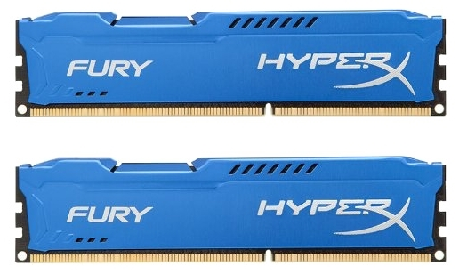 все цены на Память DDR3 2x4Gb Kingston HyperX FURY Blue (HX316C10FK2/8) онлайн