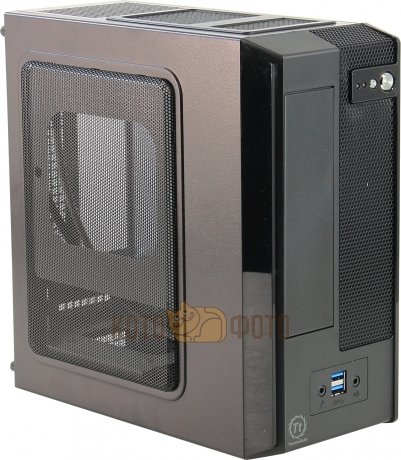 Корпус Thermaltake SD101 VP11821N2E черный 180W miniITX
