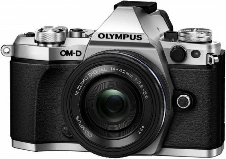 Цифровой фотоаппарат Olympus OM-D E-M5 Mark II Kit 14-42 mm EZ Silver-Black фотоаппарат olympus om d e m5 mark ii kit 14 150 mm black