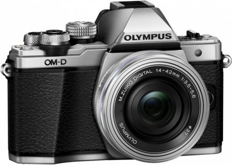 Цифровой фотоаппарат Olympus OM-D E-M10 Mark II Kit 14-42 + 40-150 mm R EZ Silver-Silver-Black фотоаппарат olympus om d e m5 mark ii kit 14 42 mm ez silver black