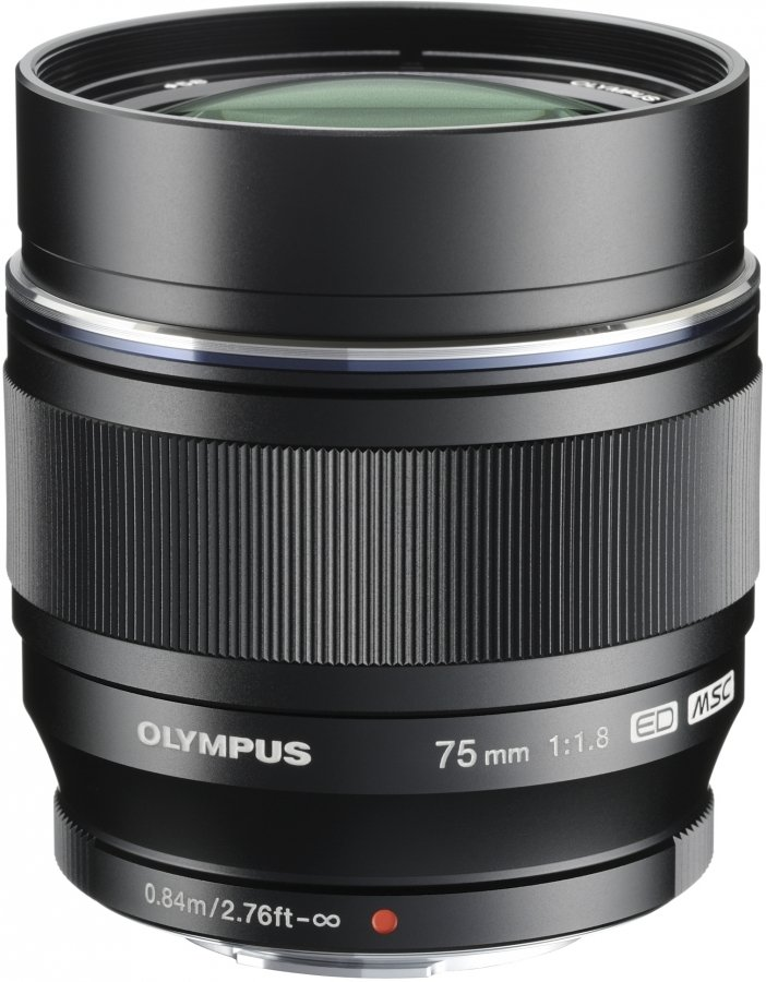 Объектив Olympus M.Zuiko Digital ED 75 mm F/1.8 for PEN Black объектив olympus m zuiko ed 40 150 mm f 2 8 pro for micro four thirds
