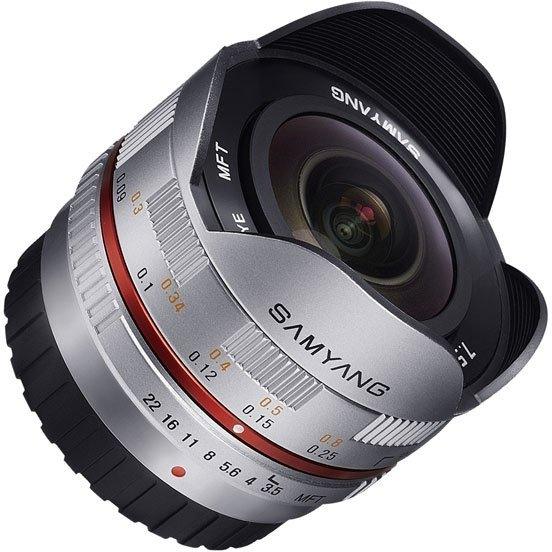 Объектив Samyang MF 7.5 mm F/3.5 Fish-eye UMC for Micro 4/3 Silver цена 2017