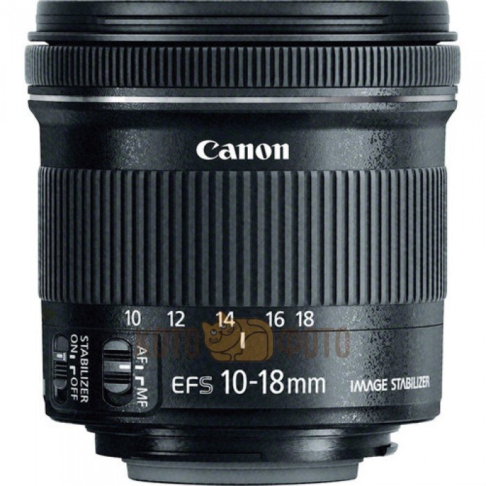 Объектив Canon EF-S 10-18mm f 4.5-5.6 IS STM объектив canon ef s 24 mm f 2 8 stm