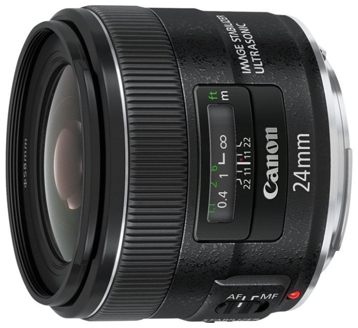 лучшая цена Объектив Canon EF 24mm f 2.8 IS USM