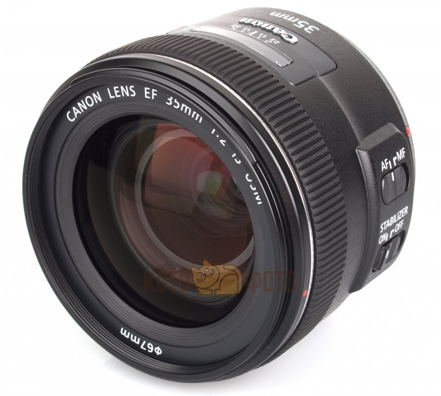 Объектив Canon EF 35mm f 2 IS USM объектив canon ef s is stm 1620c005 18 55мм f 4 5 6 черный