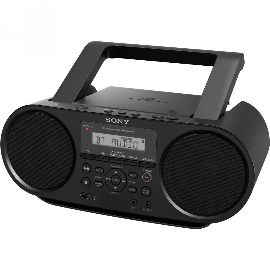 Аудиомагнитола Sony ZS-RS60BT черный 4Вт/CD/CDRW/MP3/FM(dig)/USB/BT магнитола sony zs rs60bt