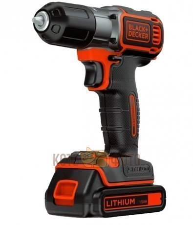 Дрель-шуруповерт Black & Decker ASD18KB  шуруповерт black decker egbl108kb