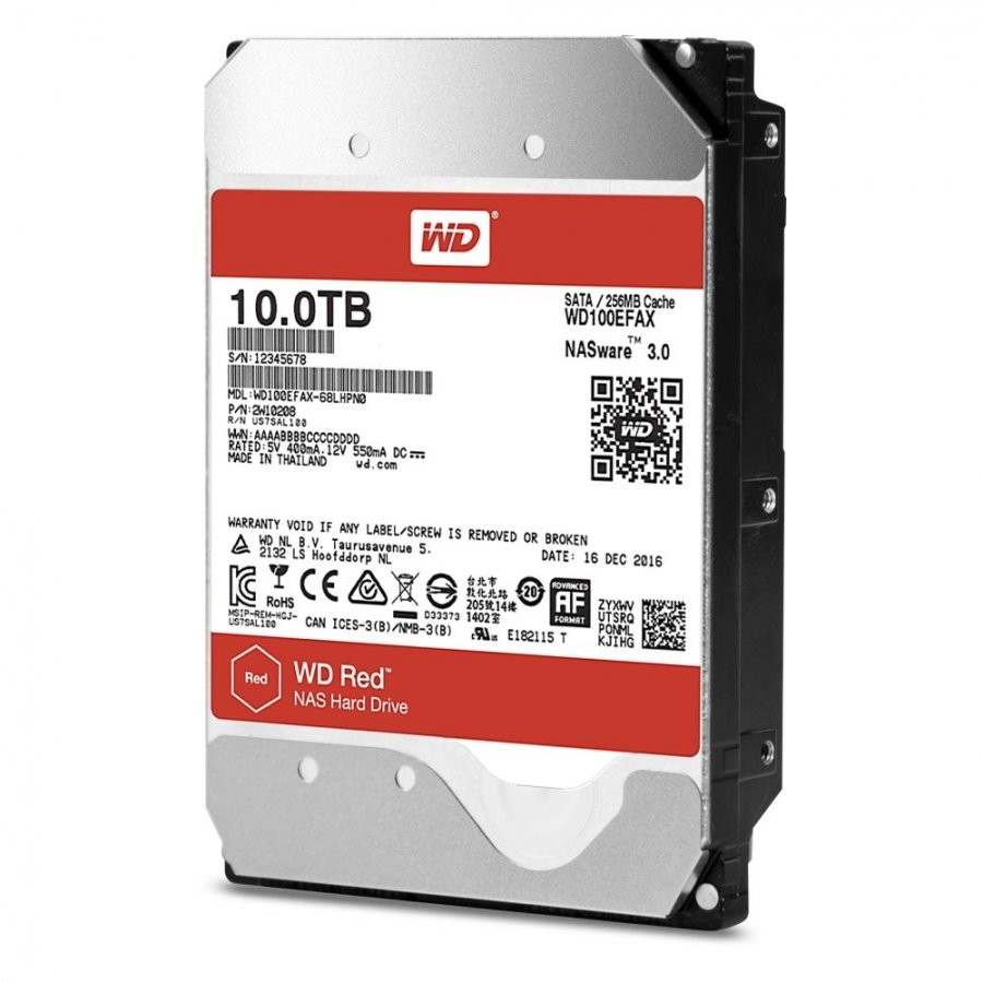 Жесткий диск WD Red 10Tb (WD100EFAX) synology ds416slim