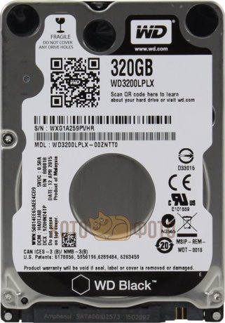Жесткий диск WD Original SATA-III 320Gb WD3200LPLX Black (7200rpm) 16Mb 2.5