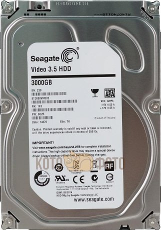 Жесткий диск Seagate Original SATA-III 3Tb ST3000VM002 Video (5900rpm) 64Mb 3.5