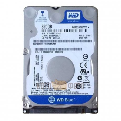 Жесткий диск WD Original SATA-III 320Gb WD3200LPCX Blue (5400rpm) 16Mb 2.5