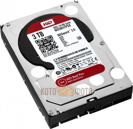 Жесткий диск WD Original SATA-III 3Tb WD3001FFSX Red Pro (7200rpm) 64Mb 3.5
