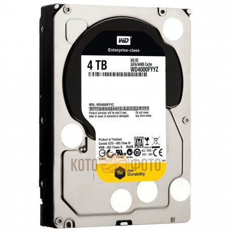 Жесткий диск WD Original SATA-III 4Tb WD4000FYYZ RE (7200rpm) 64Mb 3.5