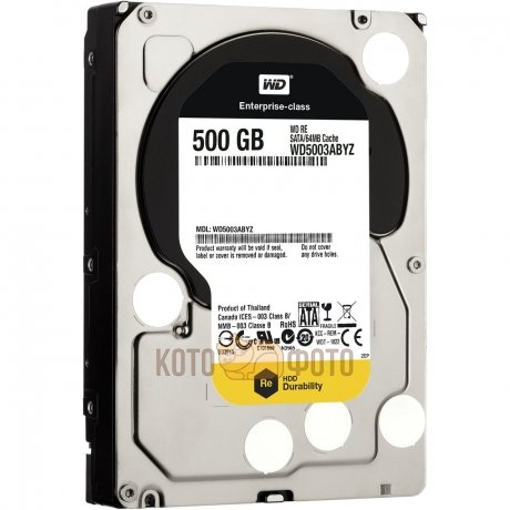 Жесткий диск WD Original SATA-III 500Gb WD5003ABYZ RE (7200rpm) 64Mb 3.5  все цены