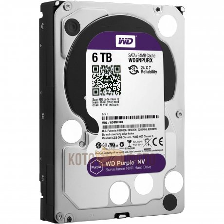 Жесткий диск WD Original SATA-III 6Tb WD6NPURX Purple NV 64Mb 3.5