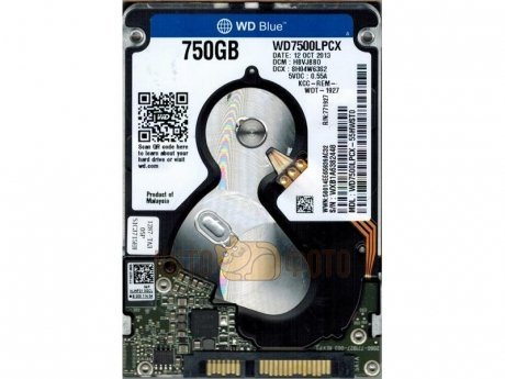 Жесткий диск WD Original SATA-III 750Gb WD7500LPCX Blue (5400rpm) 16Mb 2.5