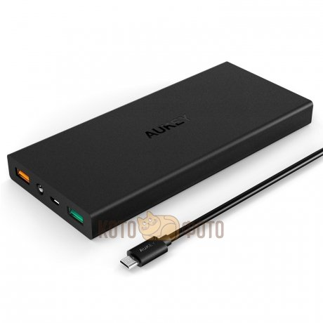 Внешний аккумулятор AUKEY PB-T3 16000mAh PowerAll, Quick Charge 2.0 Black аккумулятор aukey 30000mah quick charge 3 0 pb t11 black