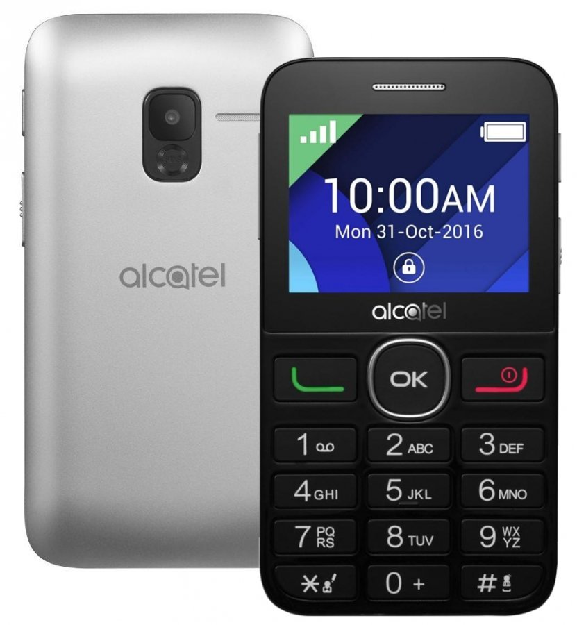 Мобильный телефон Alcatel Tiger XTM 2008G Silver мобильный телефон alcatel 2008g tiger xtm silver серебристый